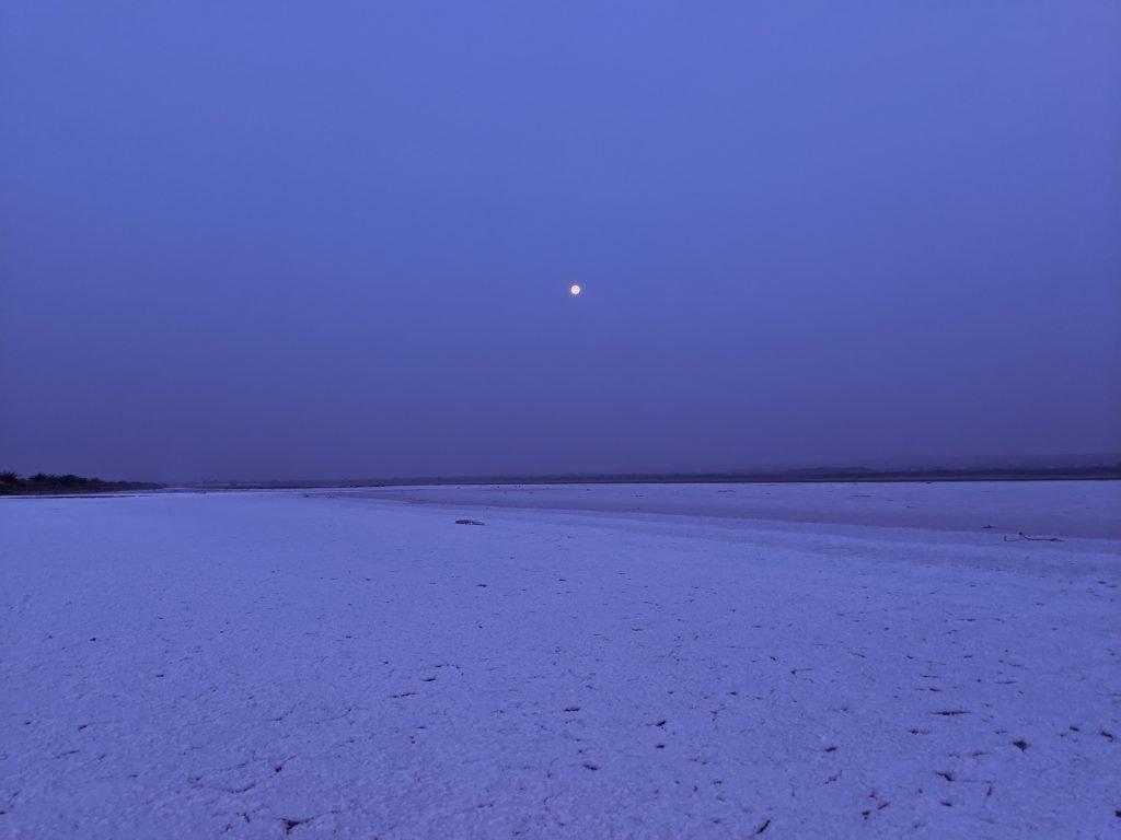 Full Moon at whire desert